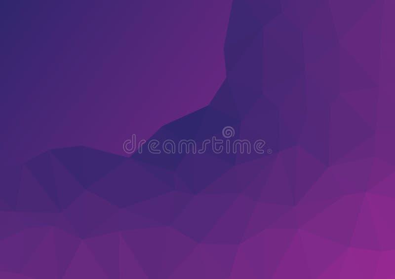 L?ga poly m?rka burgundy, purpurf?rgad abstrakt bakgrund Den geometriska trianguleringen vaggar, berget texturerad modell royaltyfri illustrationer