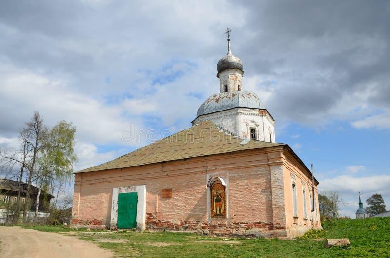 L'?glise de la transfiguration dans Sadovnya, Alexandrov, r?gion de Vladimir, 1742 ans images stock