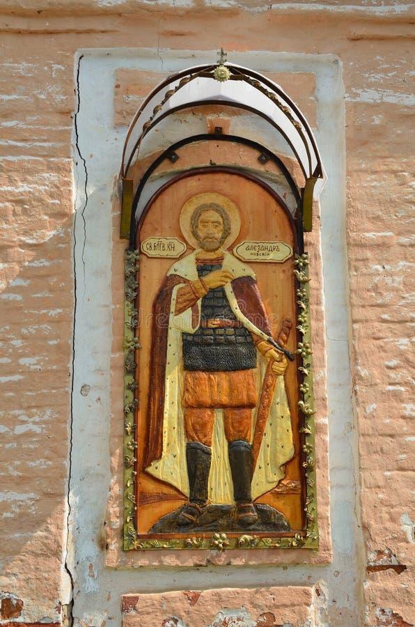 L'?glise de la transfiguration dans Sadovnya, Alexandrov, r?gion de Vladimir, 1742 ans ?l?ments d'arhitecture photos libres de droits