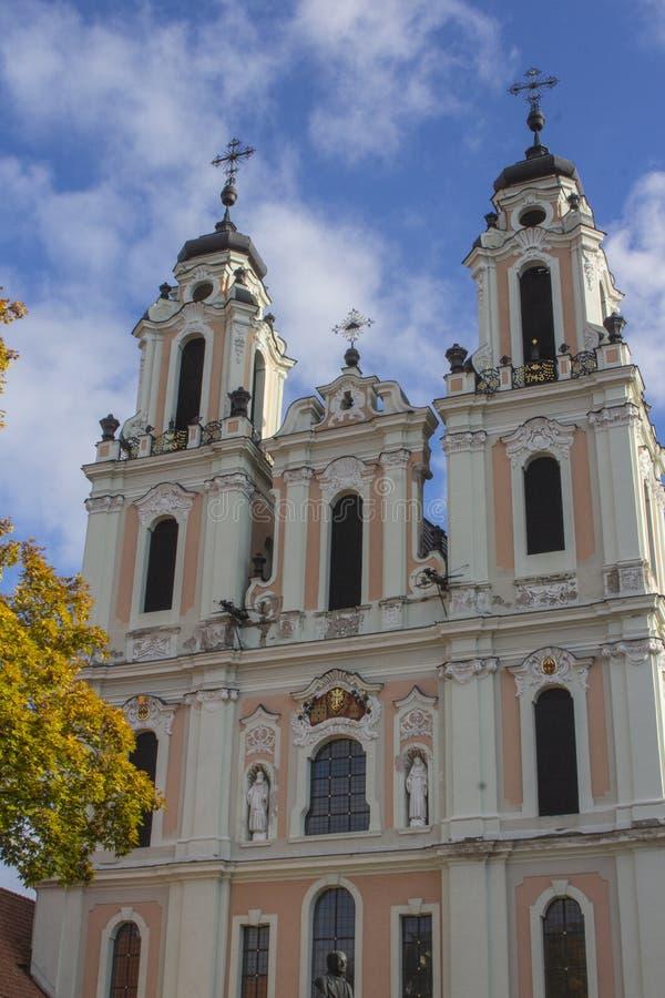 L'?glise de St Catherine est l'?glise de l'ancien monast?re b?n?dictin de Vilnius lithuania photos stock