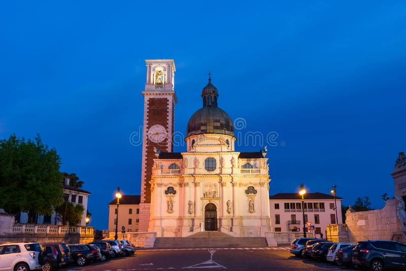 L'?glise de St Mary d'Italien de Berico de b?ti : Basilica di S Maria di Monte Berico photographie stock libre de droits