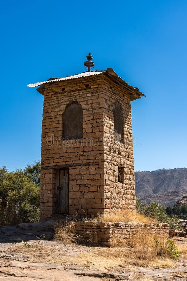 L'?glise rocheuse de Wukro Cherkos en Ethiopie photo stock