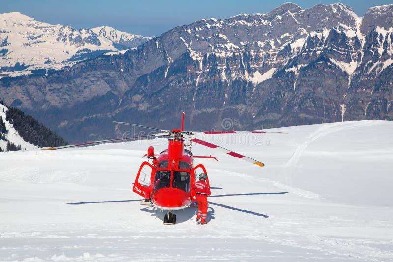 L'hélicoptère de délivrance photo stock