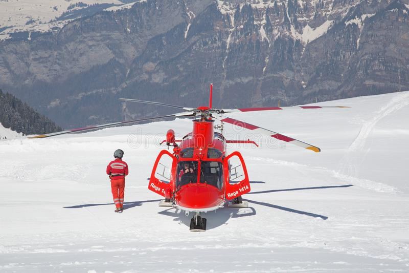 L'hélicoptère de délivrance image libre de droits