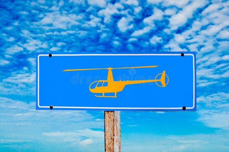 L'hélicoptère de signe photographie stock libre de droits