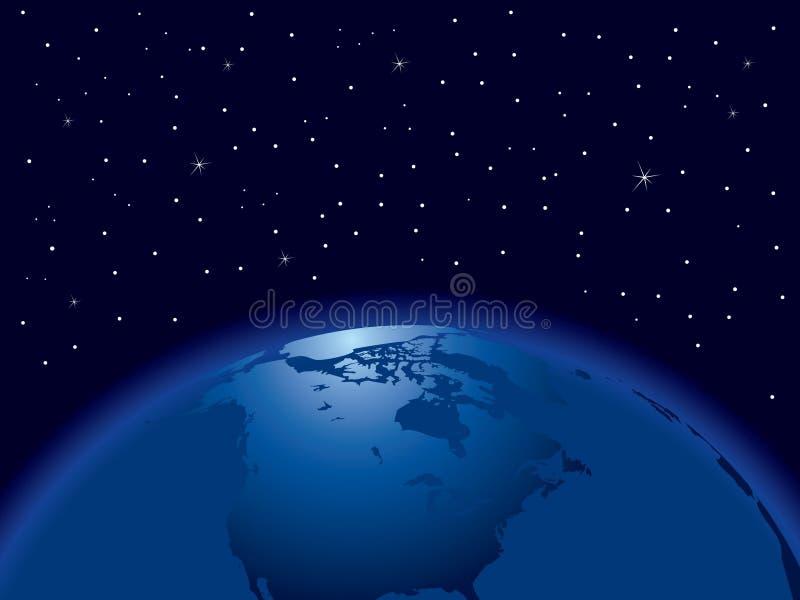 L'hémisphère de la terre illustration stock