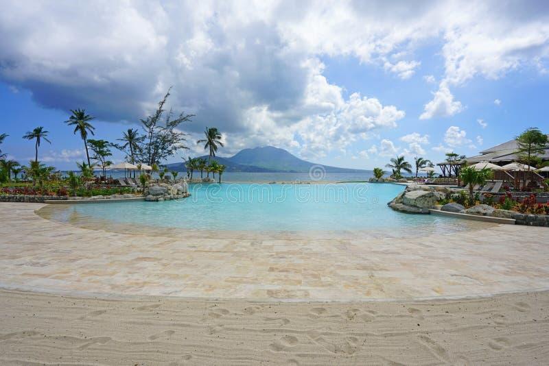 L'hôtel de tourisme de St Kitts de Hyatt de parc dans St Kitts et Niévès photo libre de droits