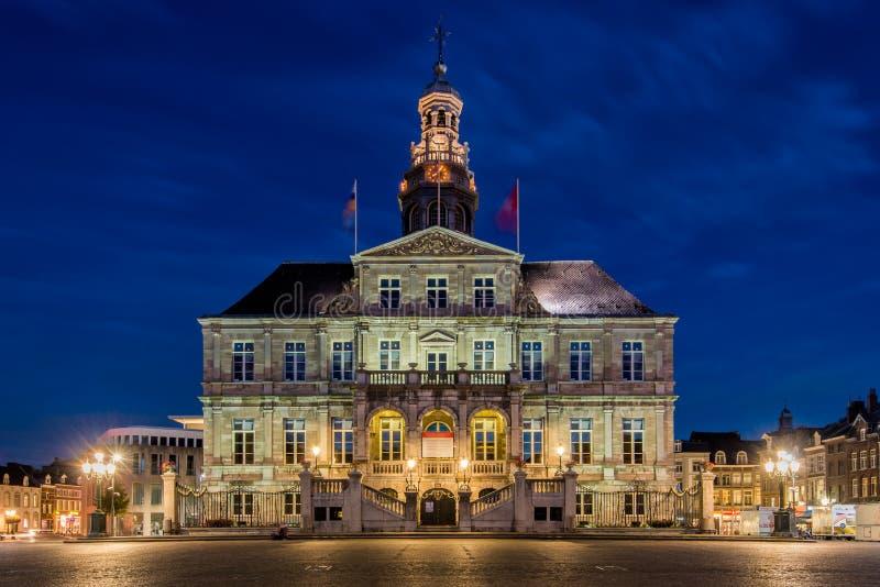 L'hôtel de ville historique de Maastricht, Pays-Bas photos stock