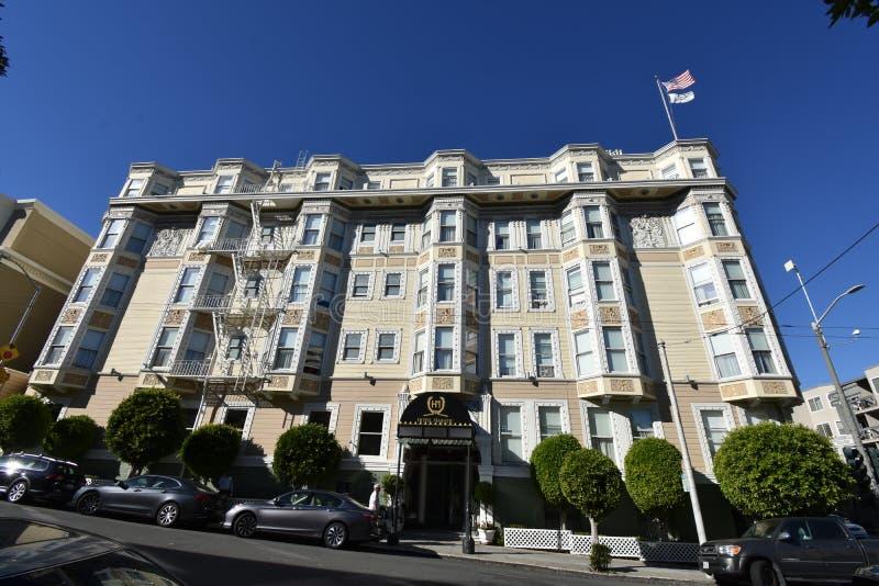 L'hôtel fonctionnant le plus ancien du ` s de San Francisco, hôtel majestueux photographie stock