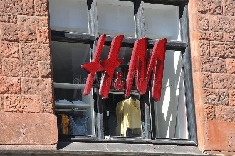L'H&M dell'archivio di smerigliamento in Svezia è chiuso a causa di covid-19 fotografie stock libere da diritti