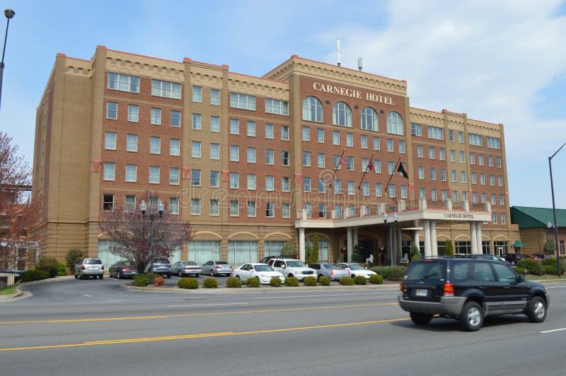 L'hôtel de Carnegie, centre serveur fréquent aux familles de visite des étudiants d'E T S U photo stock