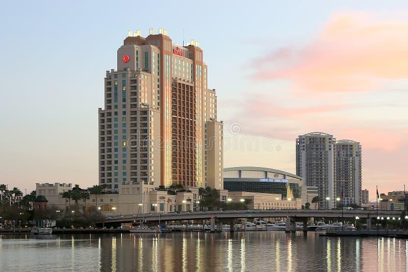 L'hôtel de Marriott à Tampa image libre de droits