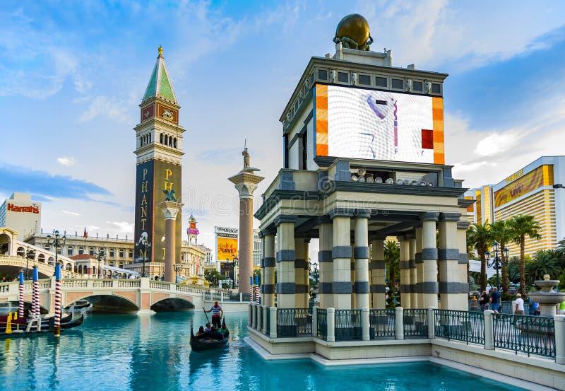 L'hôtel de tourisme et le casino vénitiens image libre de droits