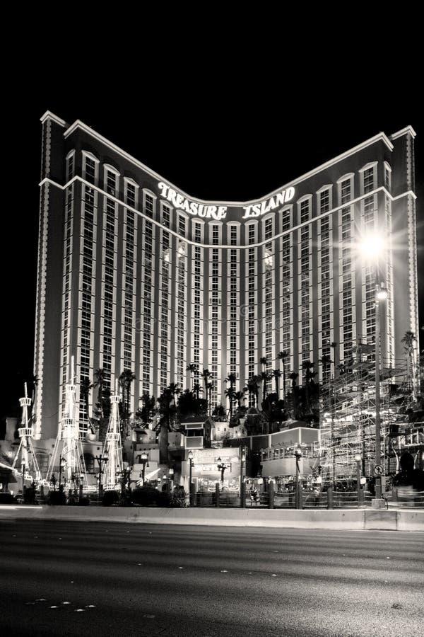 L'hôtel et le casino d'île de trésor à Las Vegas photographie stock