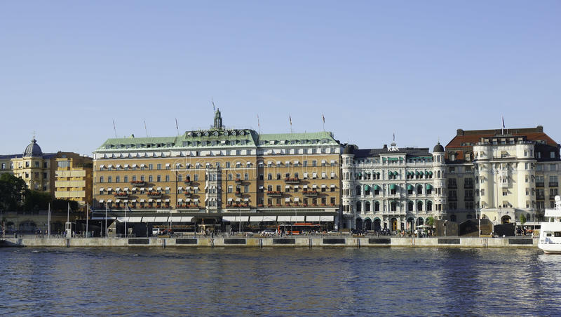 L'hôtel grand à Stockholm photos stock