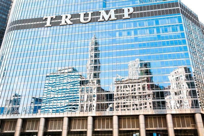 L'hôtel international d'atout et la tour, Chicago photographie stock