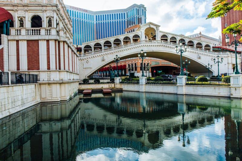 L'hôtel vénitien Macao de casino images libres de droits