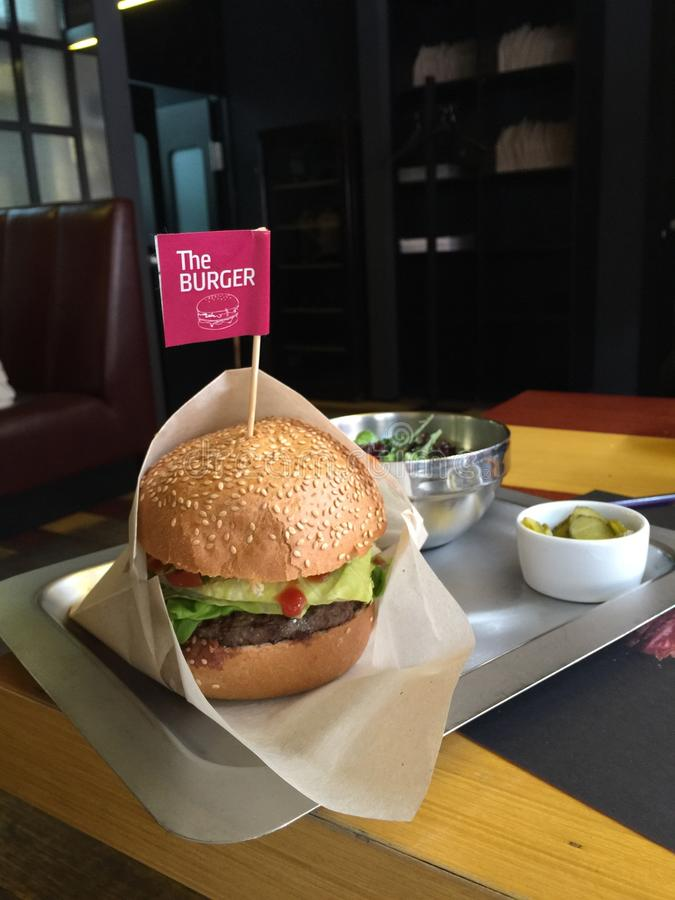 L'hamburger immagine stock