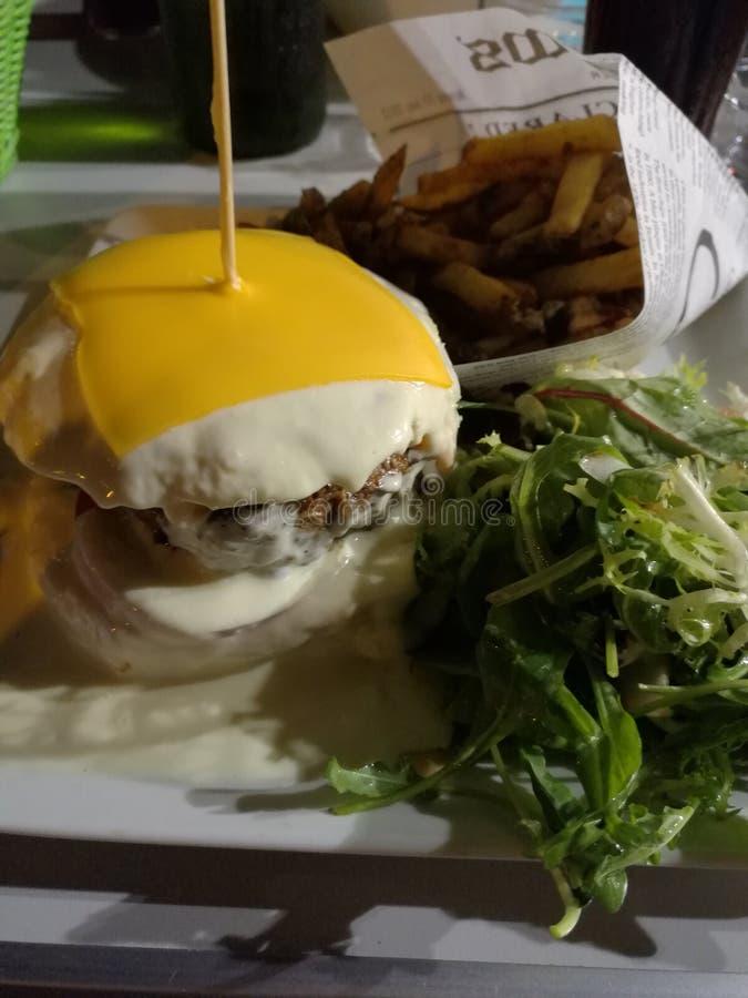 L'hamburger bianco fotografie stock
