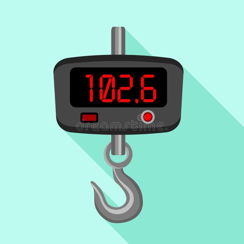 L'hameçon de Digital mesure l'icône, style plat illustration libre de droits