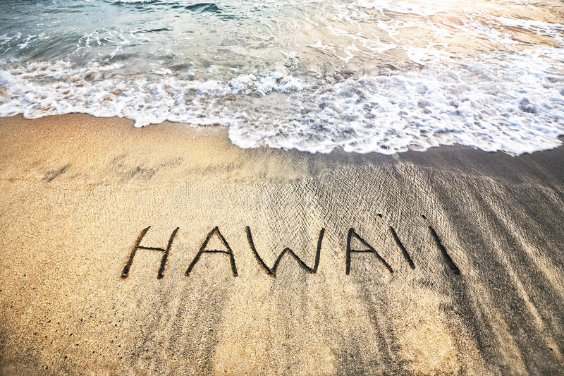 L'Hawai sulla sabbia fotografia stock