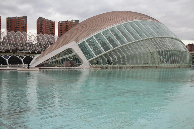 L`Hemisferic building, `City of art and science`. Valencia, Spain royalty free stock photos