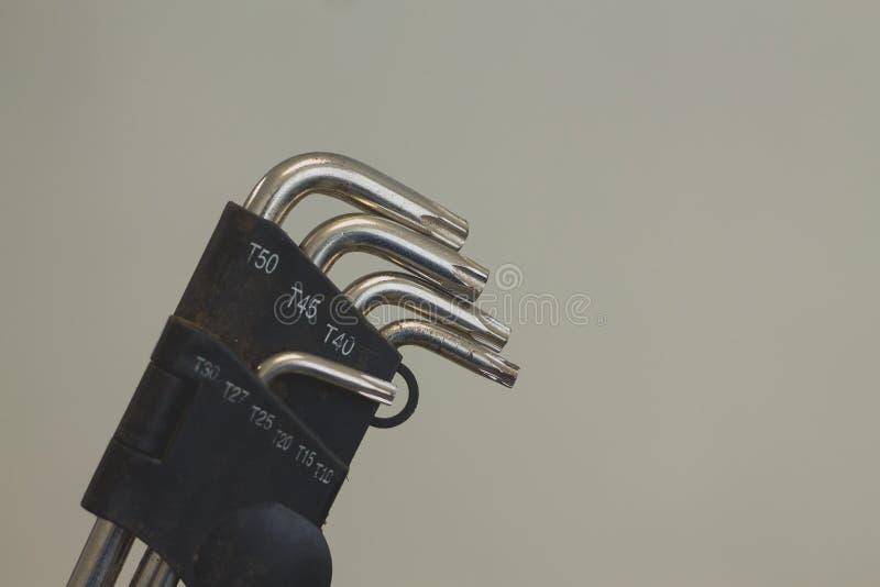 L het materiaal van het moersleutelhulpmiddel stock afbeelding