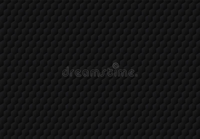 L'hexagone noir abstrait a gravé le fond et la texture en refief foncés de modèle Style de luxe illustration libre de droits