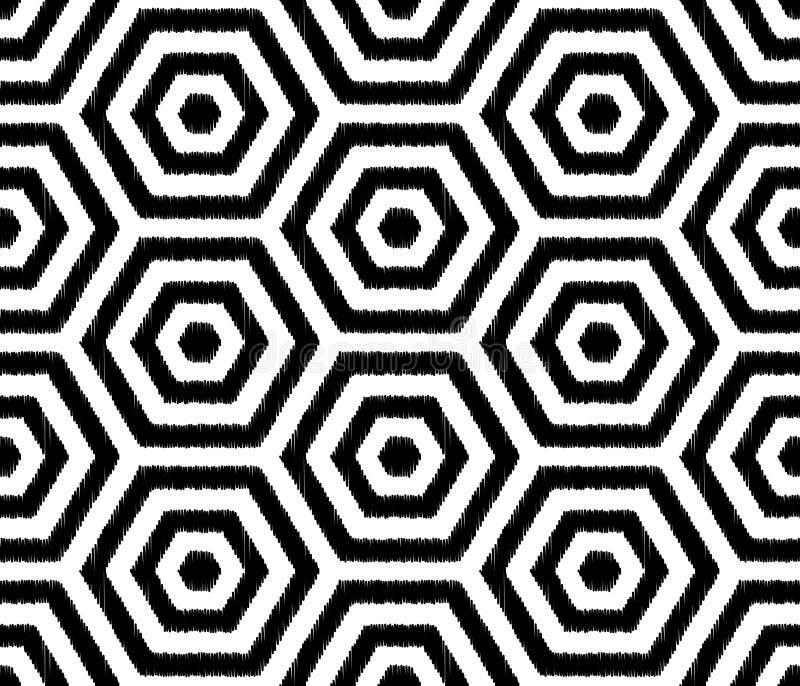 L'hexagone texturisé sans couture couvre de tuiles le modèle de papier peint illustration de vecteur