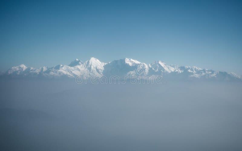 L'Himalaya comme vu d'un avion, Népal photo libre de droits