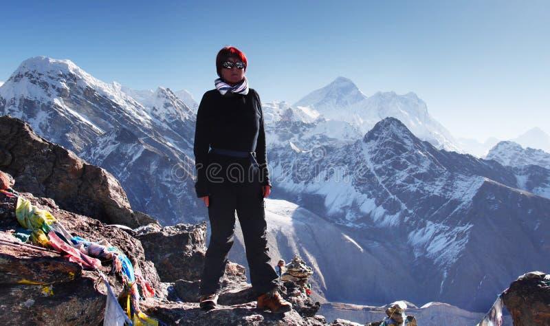 L'Himalaya, traînée de sommet de Gokyo, région de Khumbu Everest photographie stock