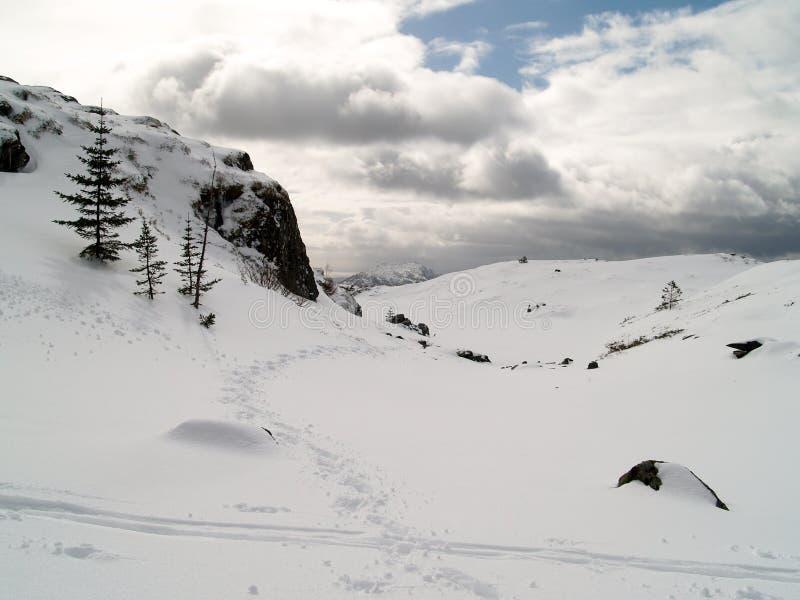 L'hiver à Bergen photographie stock libre de droits
