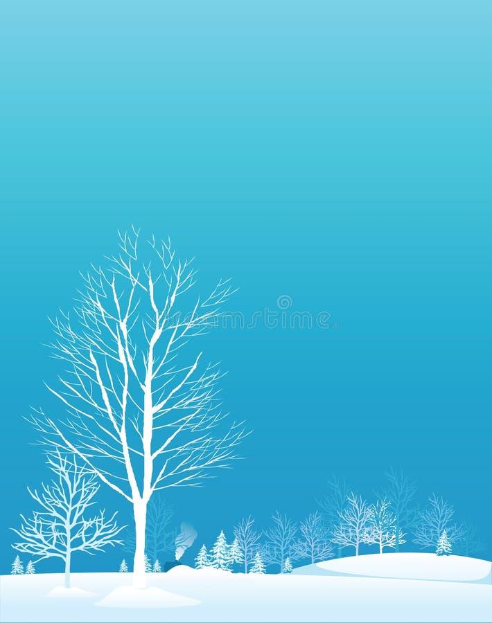 l'hiver d'arbres illustration libre de droits