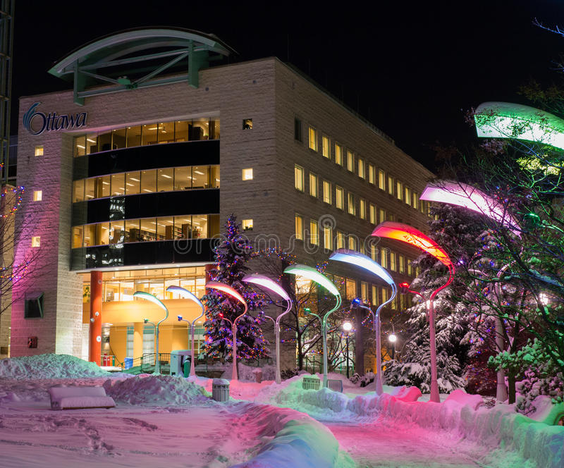 L'hiver d'hôtel de ville d'Ottawa photos libres de droits