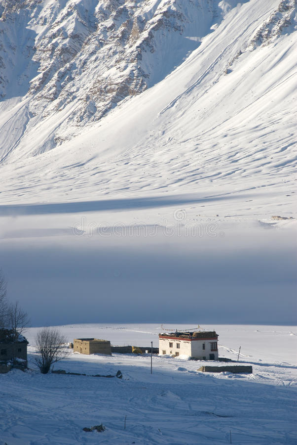 L'hiver dans la vallée de Zanskar - 4 images stock