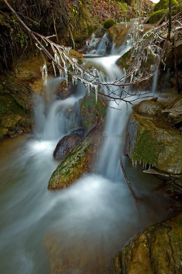 Download L'hiver De Cascade à écriture Ligne Par Ligne Image stock - Image du humide, circuler: 8666581