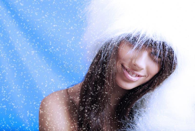 l'hiver de fille images libres de droits
