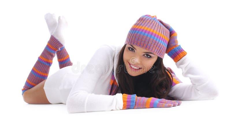 l'hiver de fille images stock