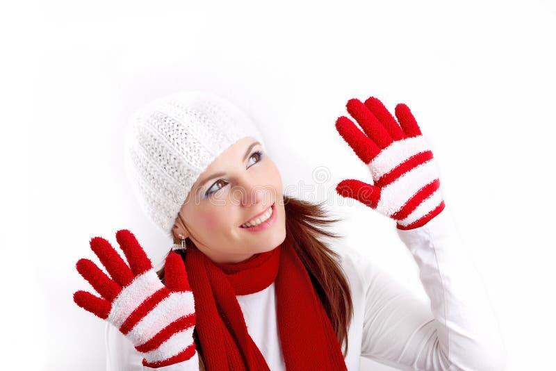 l'hiver de fille photo stock