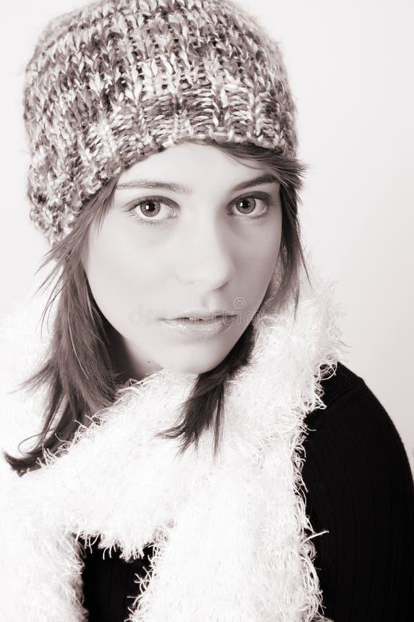 l'hiver de l'adolescence photo libre de droits