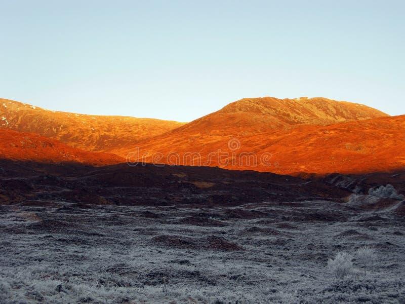 l'hiver de l'Ecosse de gorge de Garry photos libres de droits