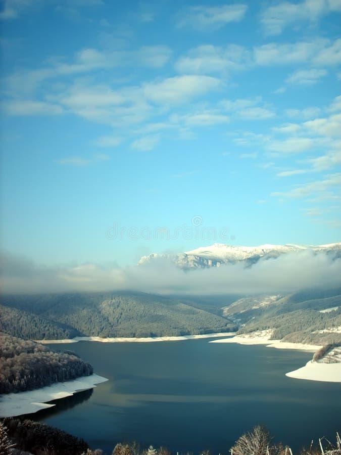l'hiver de lac photographie stock