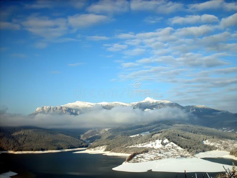 l'hiver de lac image libre de droits