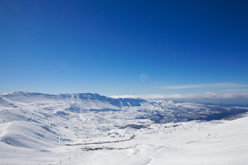 l'hiver de montagne d'horizontal photo stock