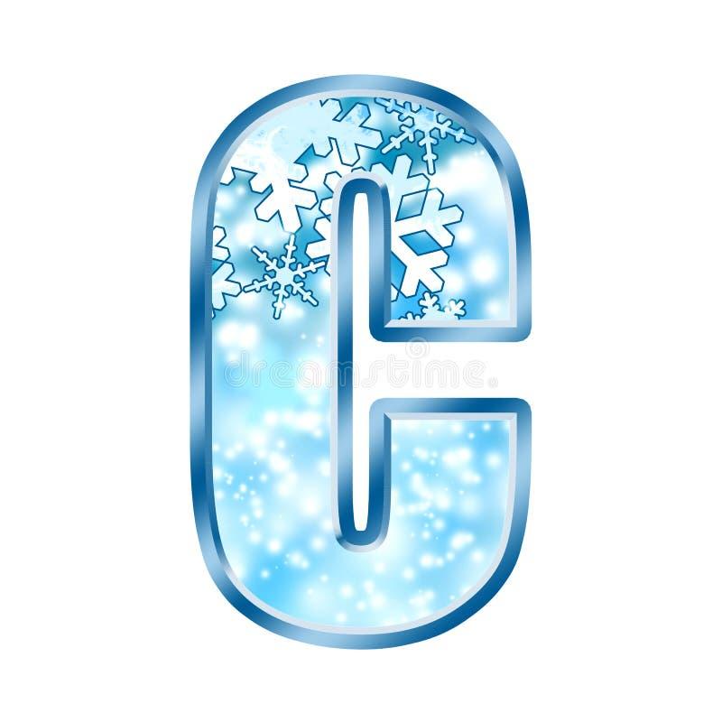 l'hiver de numéro de l'alphabet c illustration de vecteur