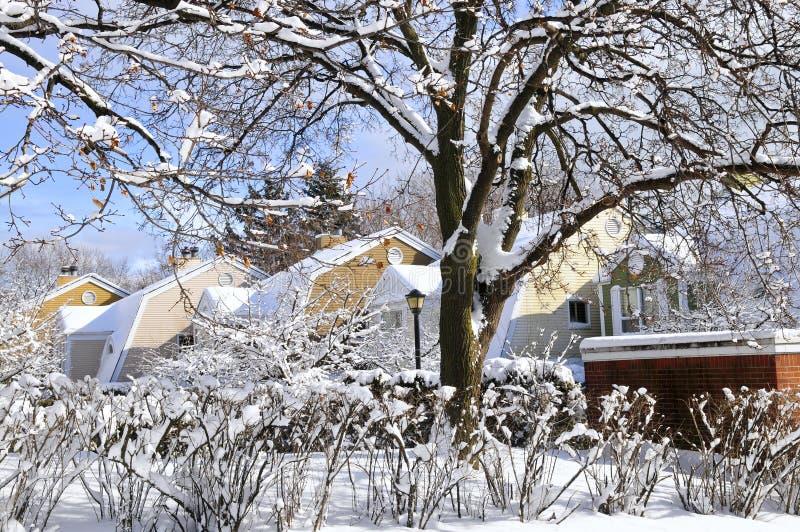 l'hiver de rue photographie stock libre de droits