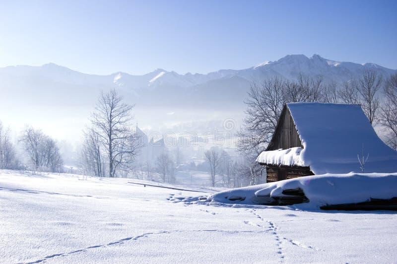 l'hiver de scène photographie stock libre de droits