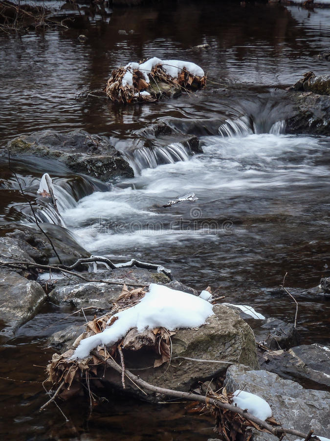 l'hiver de tourbillon de flot d'automnes photographie stock