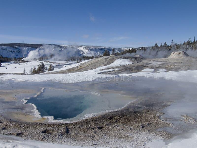 L'hiver de Yellowstone photo stock