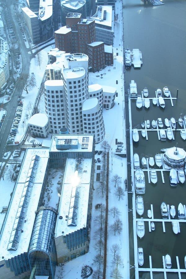L'hiver Dusseldorf photo stock